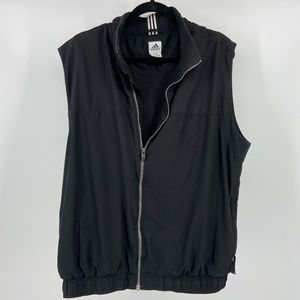 Adidas black zip up athletic vest size XL